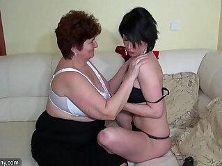 Oldnanny old fat grannies masturbating and enjoying with young girl