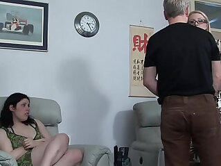 sucking: niece lies and gets her uncle a bare ass spanking in front of her
