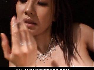 Japanese MILF fucks for a taste of cum