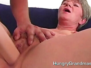 Granny session with younger guy