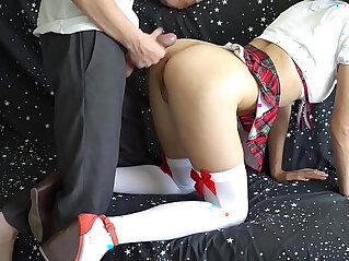 Step brother fucks sister who did not go to school but play with magic wand