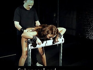 Hardcore Julie in sexy corset hard whipped and fucked doggie