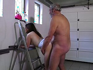 cumshot  ,  dick  ,  doggy  ,  doggy fuck  ,  grandpa   chinese porn